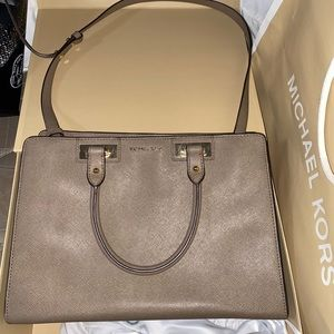 Taupe Michael Kors Satchel purse